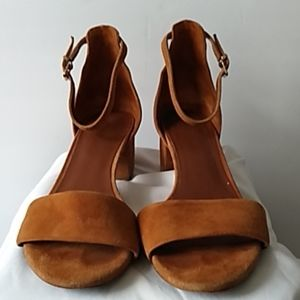 Free People suede open toe sandals size 40